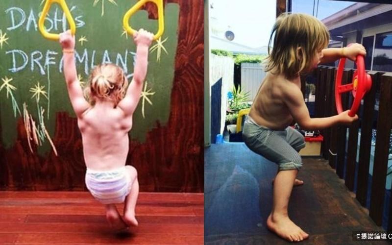 精力旺盛的3歲男孩在家就能練出六塊肌,天菜臉孔加上魔鬼身材讓姐姐們全失控!  -