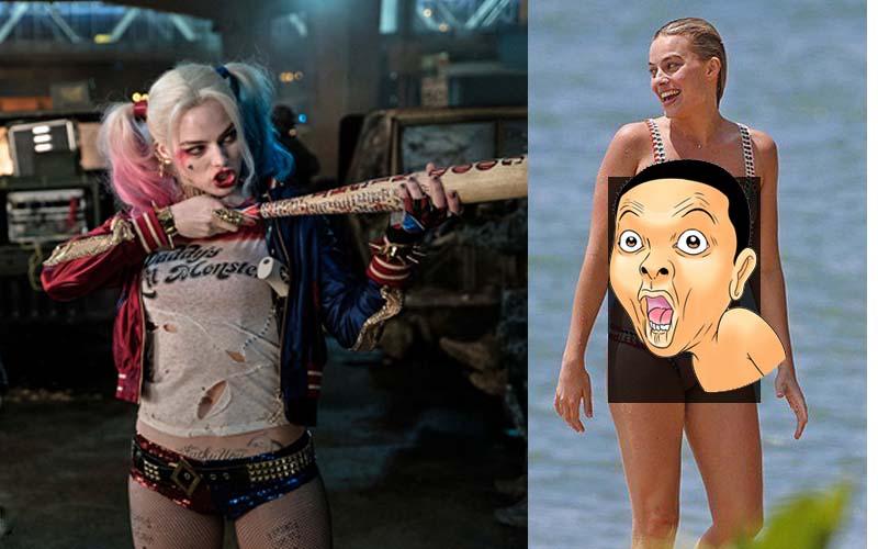 小丑女與男友渡假裸身曬太陽,比基尼照讓網友驚呼「呃..怎麼跟電影裡差那麼多?」