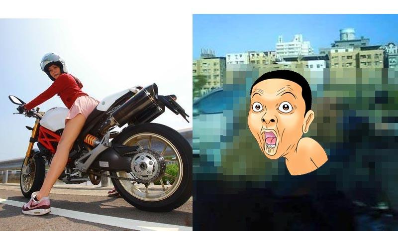 在路上看見「阿嬤騎重機」超猛畫面讓網友們驚呼:老人94狂啊!超狂!