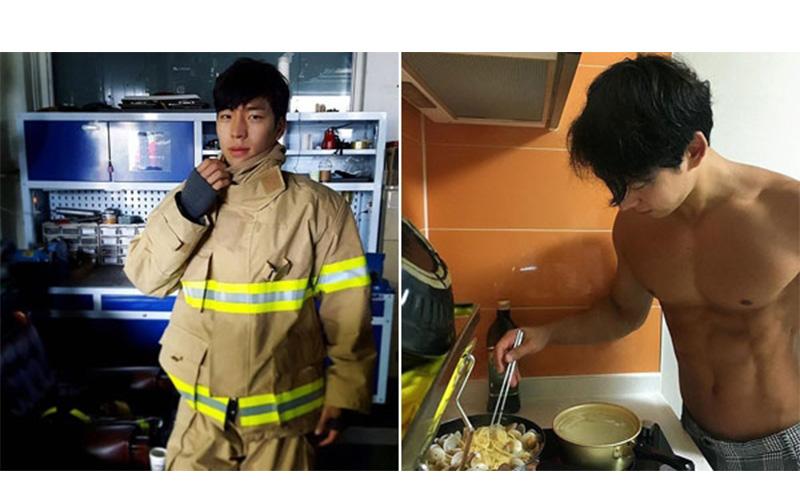 消防員哪有這麼帥!南韓一名救火英雄「擁有精壯結實的肌肉線條」加上他的高顏值,讓網友大喊差點懷孕了!