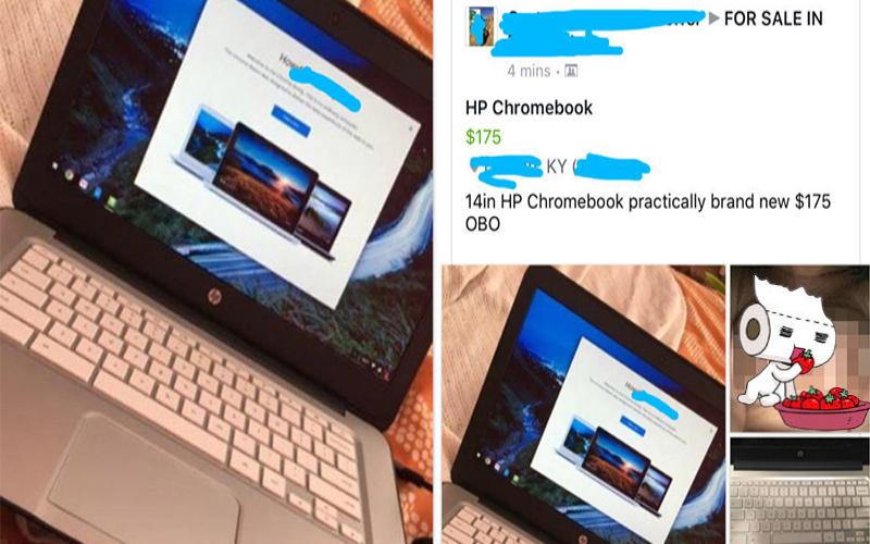 女子上網賣二手筆電,卻不小心也把「自己的胸部」賣了!網友說:「我買定了!」