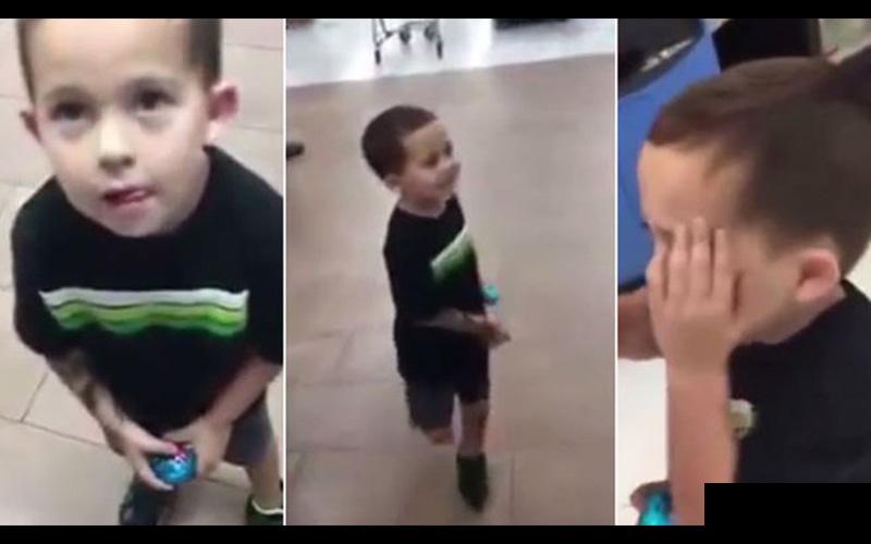 發現兒子順手偷了超市的東西,這個爸爸當下立刻給他上了「永生難忘的一課」...獲網友大讚!(圖+影)