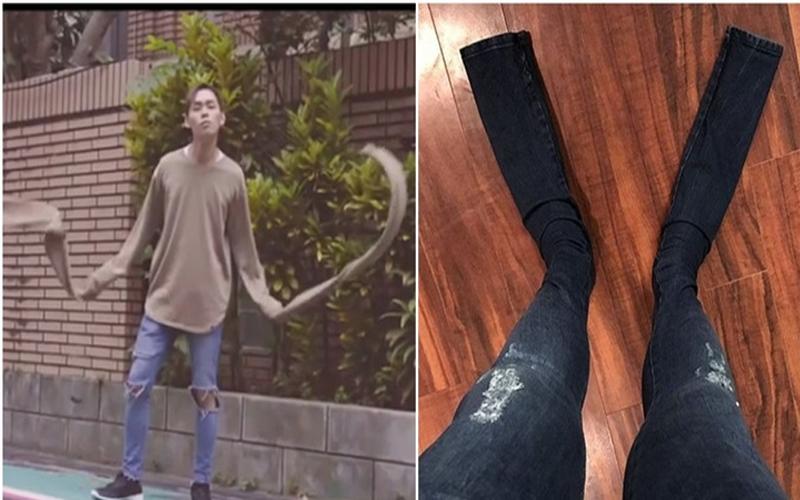 不只過袖還要「過管」?網拍買來的牛仔褲管長到變蛙鞋!店家堅持:是這一季流行時尚!