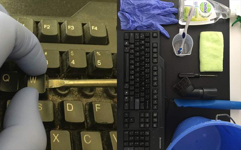 不清理真的不知道裡面這麼噁心!!網友教你怎麼清鍵盤:這過程有點療癒阿...