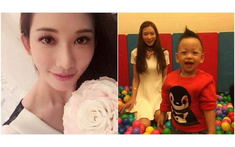 林志玲陪小V寶在球池玩! 一個不小心....眼尖網友發現裙底「粉紅色」露出!