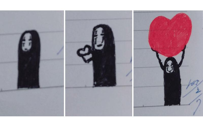 13張男友在情書偷偷留下的「告白小插畫」#8已「畫到技巧進化」超Q!