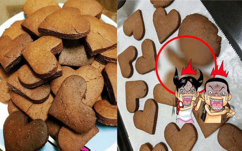 她心血來潮嘗試做手工餅乾卻被媽媽的「這條」 亂入,還原度100%還加持讓網友笑翻XD