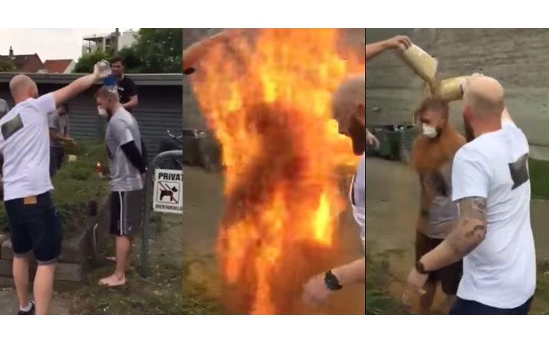 慶生玩「過火」!壽星被撒肉桂粉加水…瞬間轟成火柱!(圖+影)