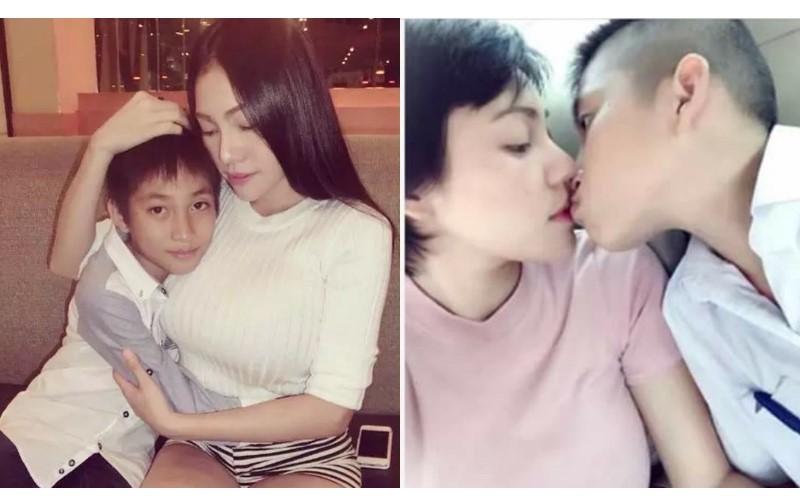 妈妈和孩子乱伦_巨乳妈妈热吻儿子拍亲密照 遭网友批乱伦