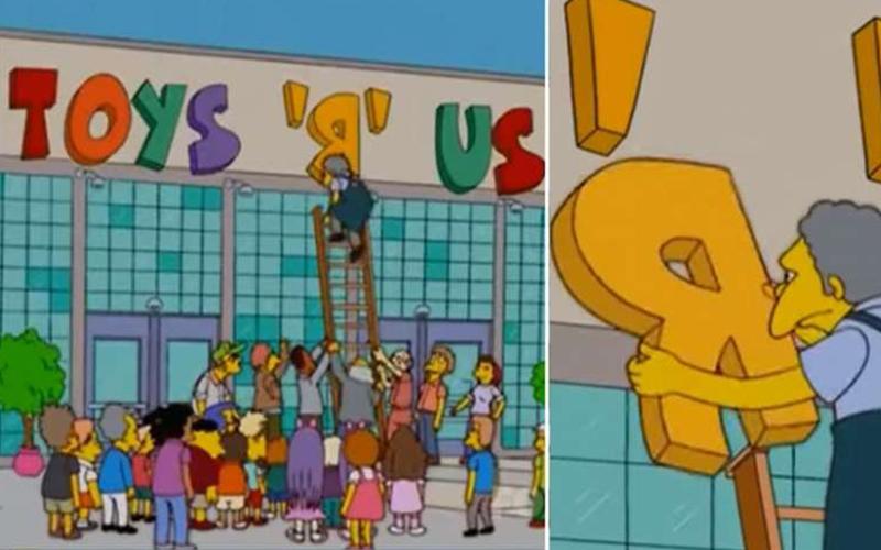 《辛普森家族》14年前就已預測玩具反斗城會倒閉,2017就宣告破產關門!:果然是預言神劇
