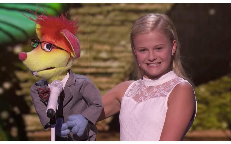 12歲少女帶老鼠娃娃登達人秀舞台,一開口全場就High翻啦!