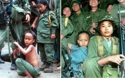 魔鬼娃娃軍都是真實存在的!緬甸孩子晚上是性奴,白天是殺人機器!把死亡當遊戲!