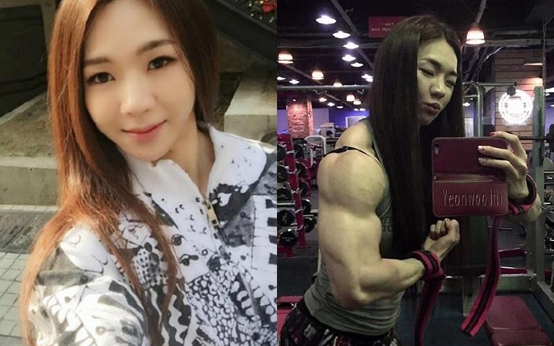 韓網瘋傳「金剛芭比」天使臉孔筋肉身材!看到她老公...原來是巨肌獸!