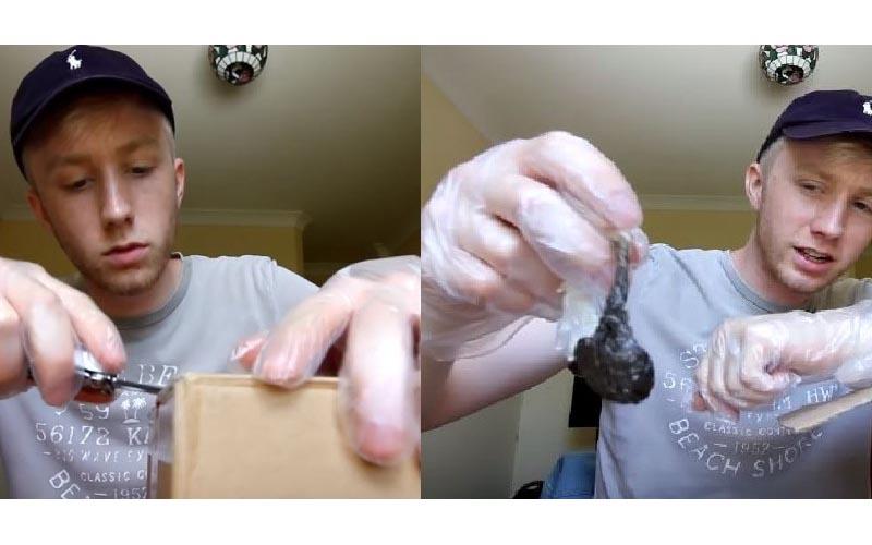 他砸1萬買下來路不明「暗網神秘箱」一打開惡臭撲鼻「出現一包超奇怪不明物體」