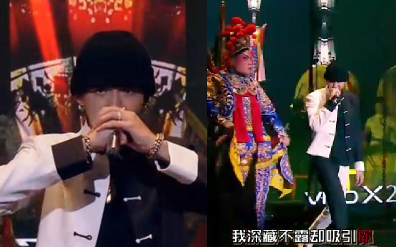 吴亦凡在《中國新說唱》公演秀中西合璧炸High全場 榮獲NO.1,但眼尖網友質疑:有對嘴嗎?