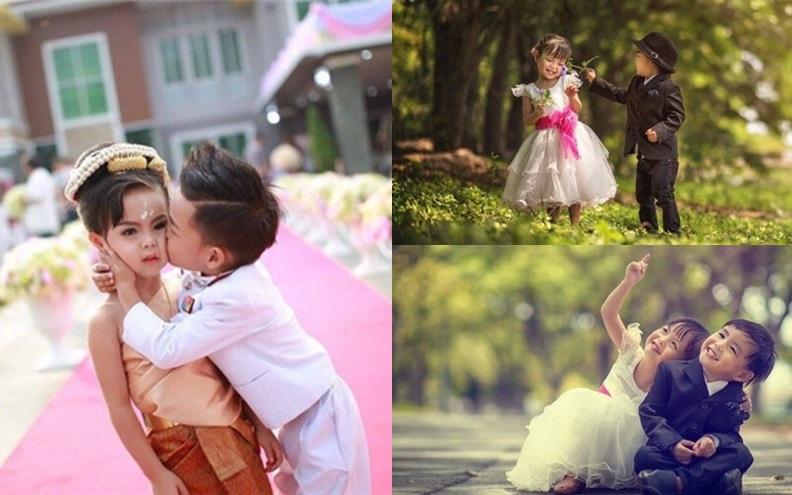 泰國這對3歲龍鳳胎轟轟烈烈的結婚了,怪又萌的婚禮原來竟是因為他們…..