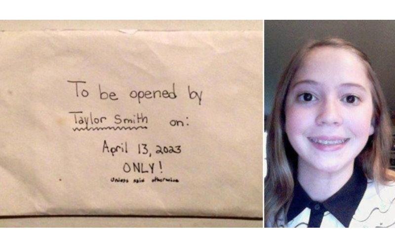 父母發現驟世的12歲女兒寫的一封「2023年才能打開的信」,內容讓大家看了都落淚了…