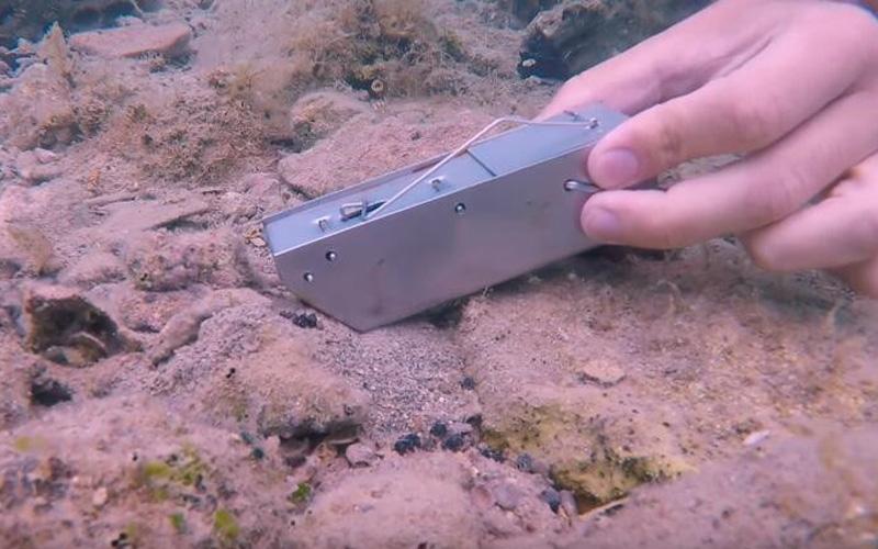 男子在海底放一個奇怪的小鐵盒…結果抓到超恐怖生物讓人看了背脊發涼!