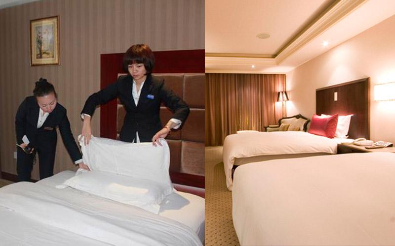飯店到底有沒有換床單?記者實際抽查,原來大部分飯店都是「床單鋪平後換下一位住客繼續睡」!