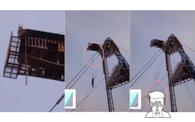 超驚悚!韓妹玩高空彈跳繩索卻「斷裂」高速下墜:根本瞬間變自殺(圖+影)