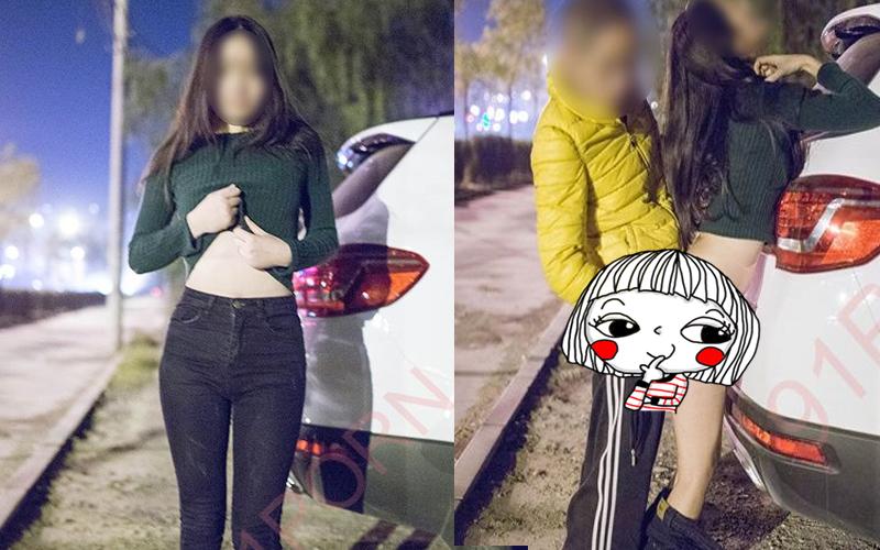 和女友出門吃飯突然想打野戰,路邊%%被發現後....:3P達陣!