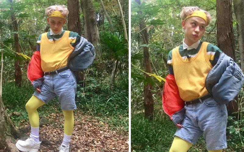 這照片不乾淨!日本藝人在森林裡拍照,網友驚見後方有「人臉」?放大一看:我要收驚...!