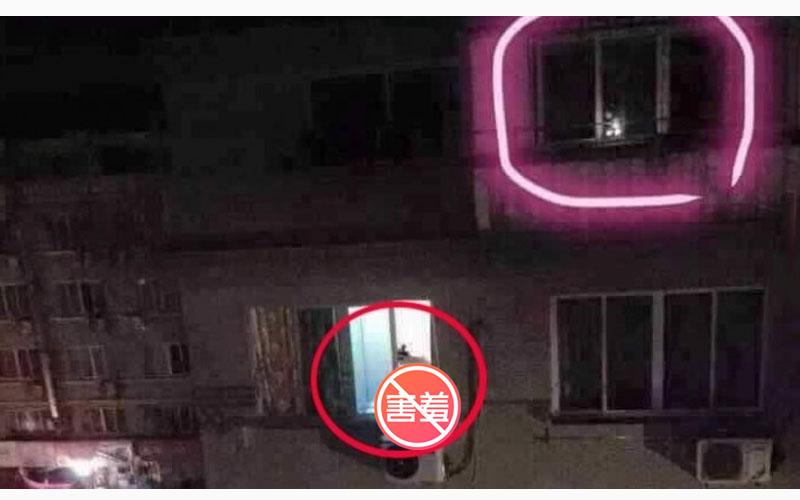 網友PO出一張靈異照,可大家焦點卻全在樓下那個沒穿衣服的女子..喂!黑森林跑出來了啦!