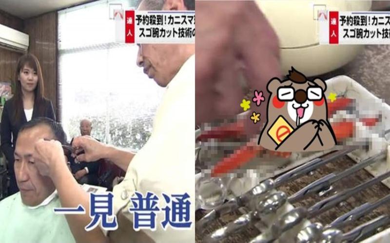 這位理髮師看起來很普通…而他下一秒竟拿起這把「美食剪刀」記者完全看傻!(圖+影)