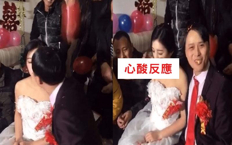 暴牙男娶到「神正老婆」興奮到當場親吻!沒想到新娘下一秒反應…似乎明白了什麼(圖+影)