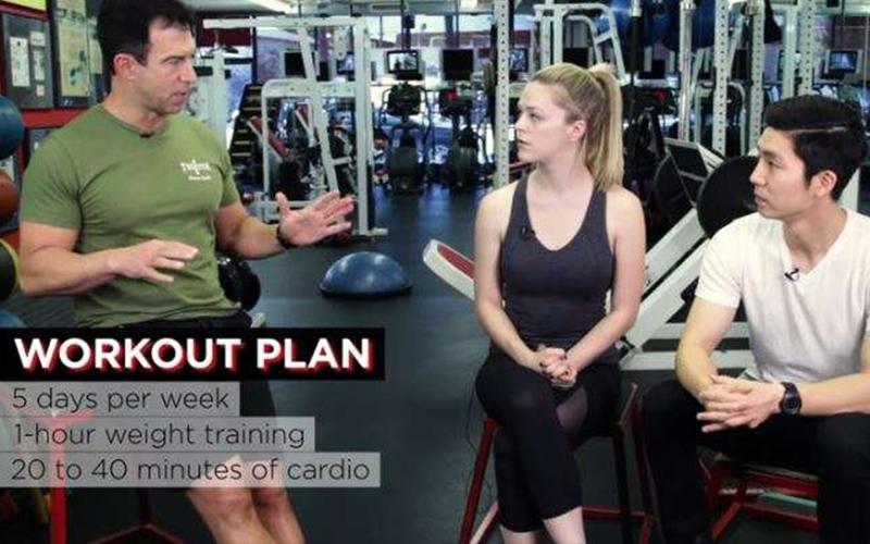這對男女挑戰「美國隊長」健身教練親自設計的健身計畫,才經過5個禮拜「從路人變天菜」!(圖 影)