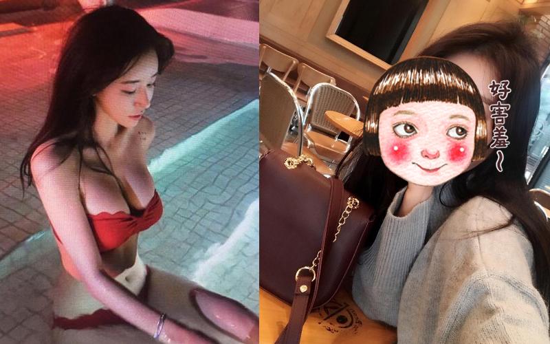 極品女神在泳池邊露出雪白酥胸,完美側臉好心動,沒想到正面...:我又初戀啦!