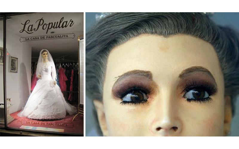 墨西哥「都市傳說」婚紗店櫥窗假人是100年前老闆「女兒屍體」,近看手的細節讓人頭皮發麻!