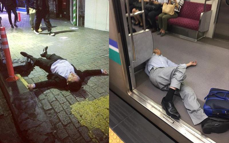 酒醉怕被撿屍?直擊日本上班族喝醉比喪屍還要更狂!網友爆笑:治安好成這樣?