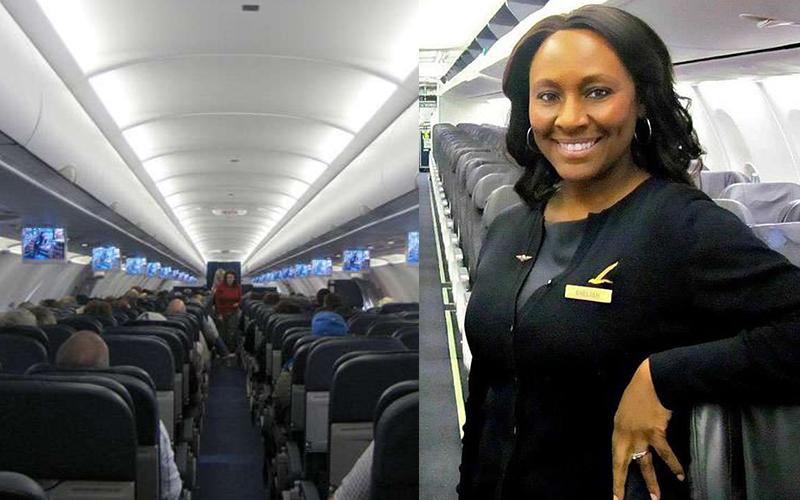 這位空姐察覺機上有位少女「看起來不對勁」,於是用唇語暗示小女孩去廁所,最後超英勇救了她一命!