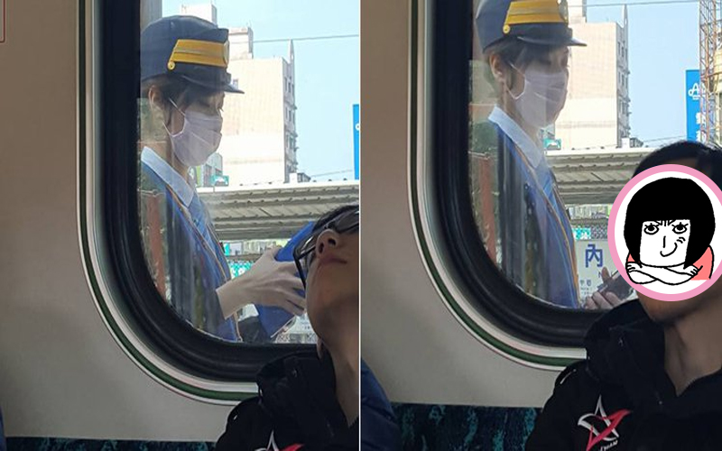 搭火車遇到神正車長小姐!想求神人神她正面照,竟意外起底旁邊男子身分是…:這才是亮點!