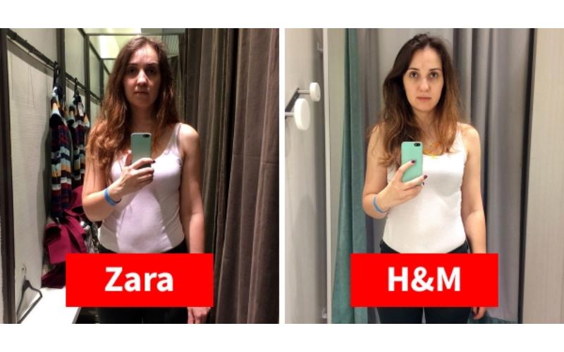 試衣間的秘密!穿著同件衣服「去11家不同品牌」試衣間拍照,這就是你一直買錯衣服的原因!
