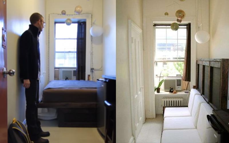 堪稱全美國面積最小的蝸居!他住在只有2.2坪的「小房間」當他推開門後大家都愣住了!(圖+影)