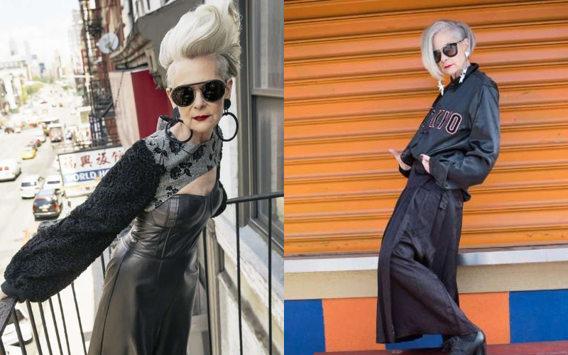 顛覆時尚界「奶奶級網美」,她拒絕P掉的「皺紋就是最完美的裝飾品!」