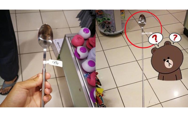 求解!超市發現謎樣「可伸縮勺子」幹嘛用的?網友超熱心圖支援解惑…笑到併軌XD!