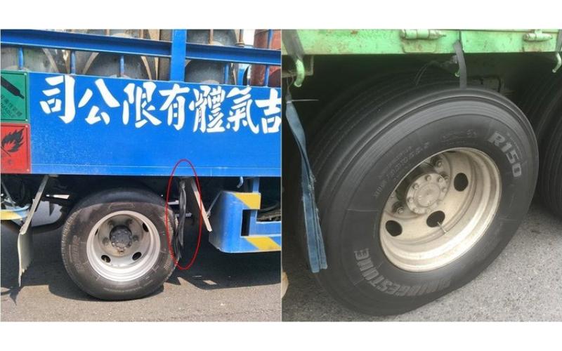 貨車輪胎旁的「橡膠條」幹麻用的?專家公布正解!網友慚愧:還以為是打三寶用的...