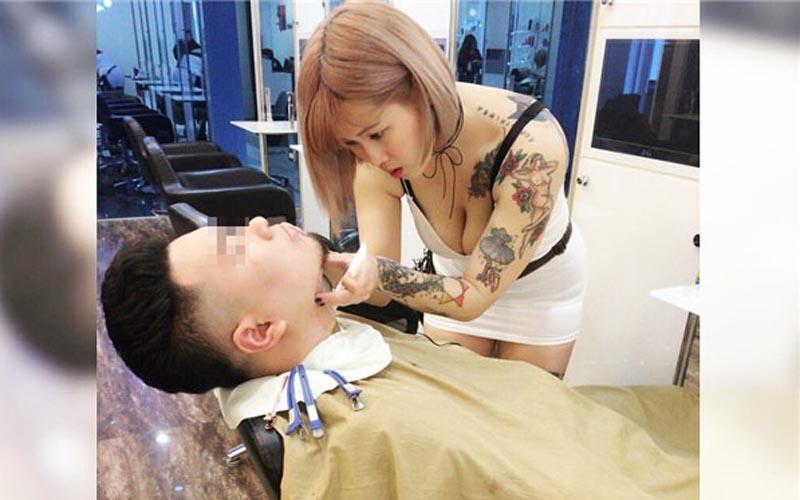 超兇理髮師讓人剪頭髮時不知道該看哪裡!好邪惡的視角啊!網友:已預約!