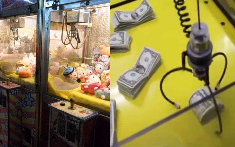 這太扯了!國外一名娃娃機老闆自作聰明把娃娃全部換成美金,結果高手上門!他欲哭無淚....