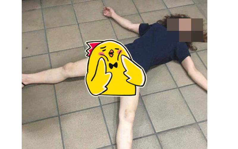 「下身失蹤」嫩腿妹酒醉倒路邊!雙腿開開熟睡...網友放大看幫忙鑑定:是女的無誤!
