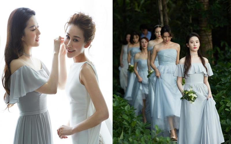 劉亦菲參加好友婚禮被封為「最美伴娘」!「仙氣太濃」網友都大喊:戀愛了!