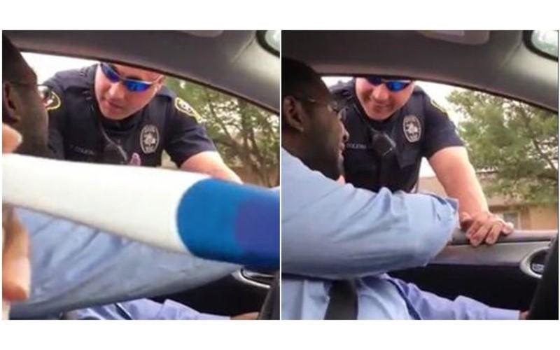 警察攔下他「因為後座沒裝嬰兒座椅」,他正納悶自己又沒小孩時, 一轉頭發現...