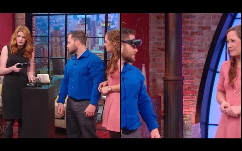 視障男子戴上高科技眼鏡與女友「初次見面」...沒想到第一眼竟然先看「這裡」全場都笑翻了!(影)