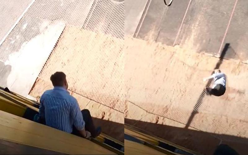 別再說記者只會秀下限啦!史上最敬業記者跳樓實測「救援裝置」然後他掉下去就...(圖+影)