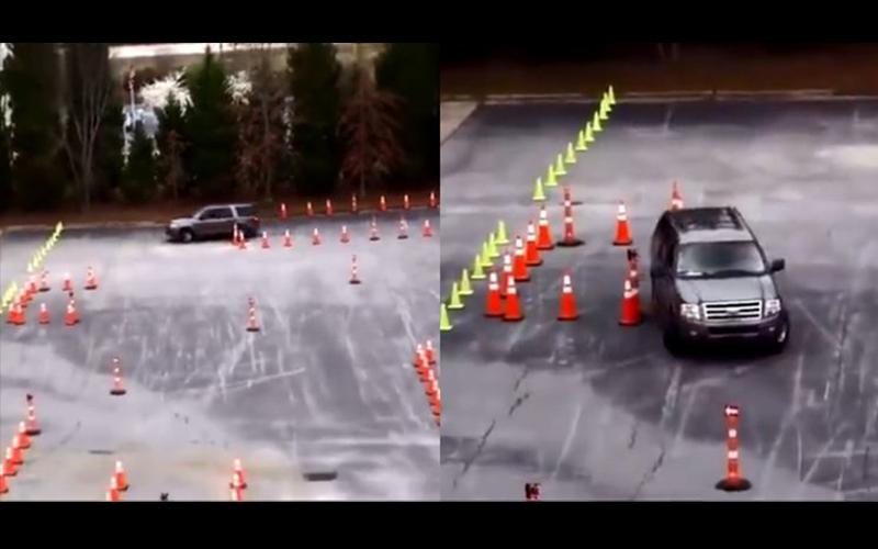 美國警察超狂「魔王級路考」!密密麻麻三角錐輕鬆過關讓人目瞪口呆:我已經迷路了(影)