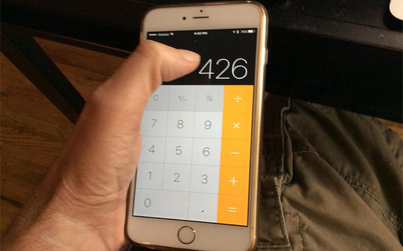 原來iPhone計算機有這個「超強隱藏功能」,只要用手指一滑…(圖+影)