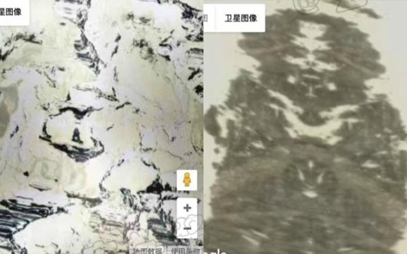 網友用谷歌地圖搜尋竟在西藏發現「超詭異景象」!放大後讓無數人嚇傻驚呼:真的有!!